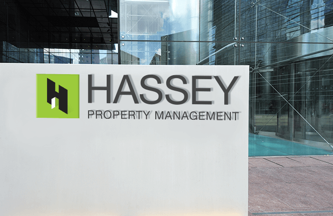 Hassey window sign design