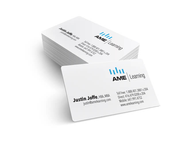 AME learning business cards