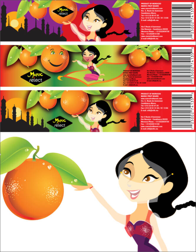Maroc Orange Packaging labels