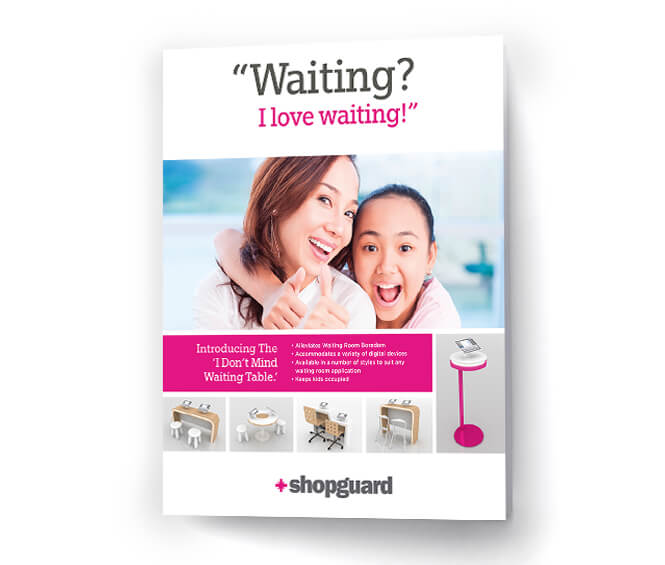 shopguard brochure cover design