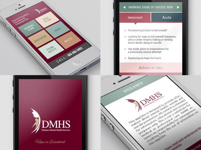 DMHS app different screenshots