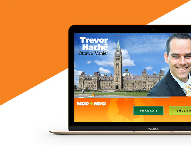 Trevor Cache NDP website homepage screenshot