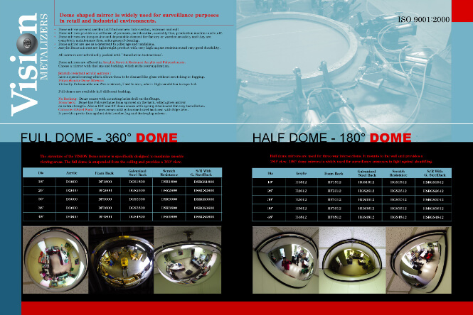 Vision Metalizers product brochure fourth page