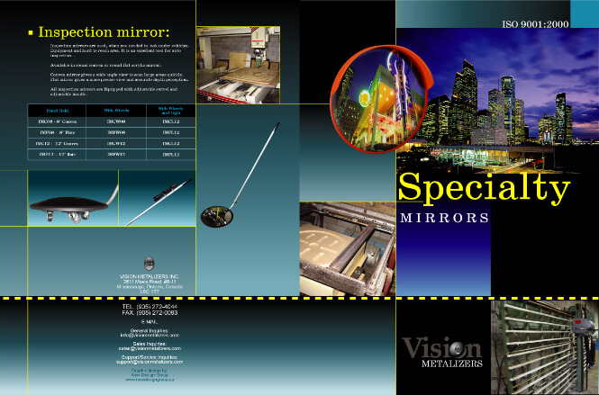 Vision Metalizers Mirrors brochure cover