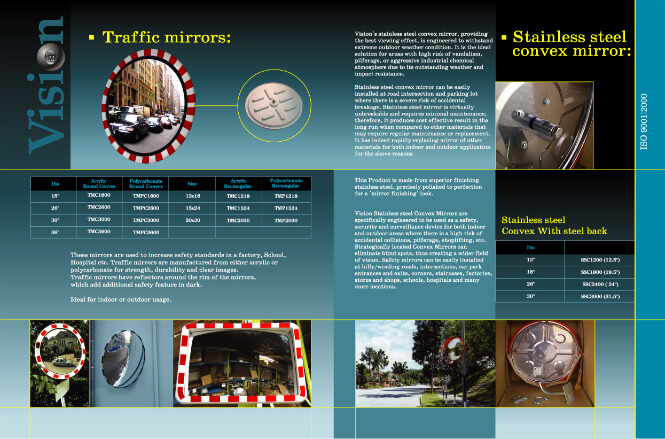 Vision Metalizers Mirrors brochure inside