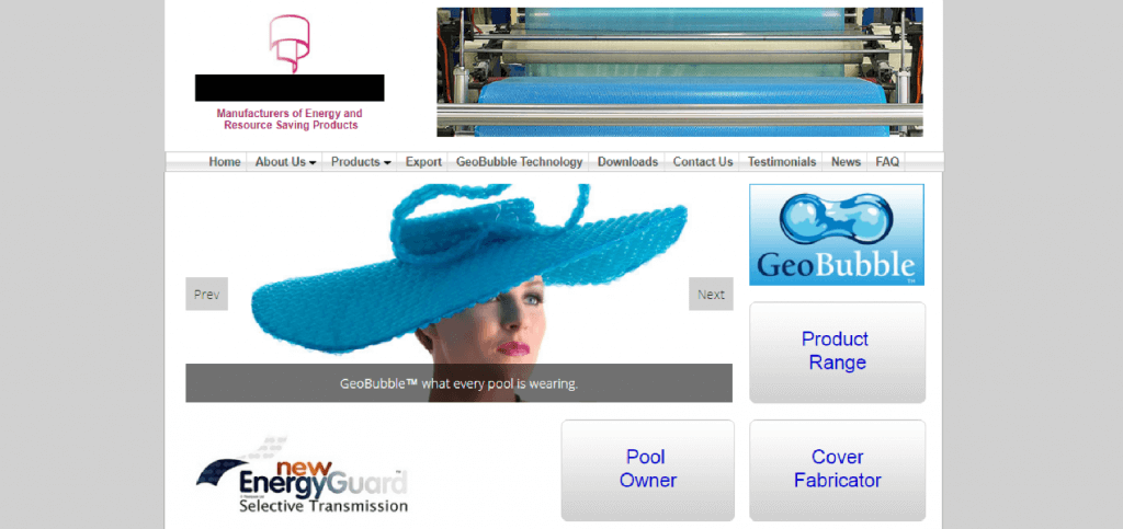 Company Manufacturing  Web Design